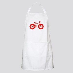 windblown red fat bike logo Apron