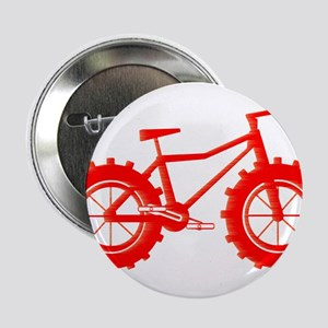 "windblown red fat bike logo 2.25"" Button"