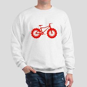 windblown red fat bike logo Sweatshirt