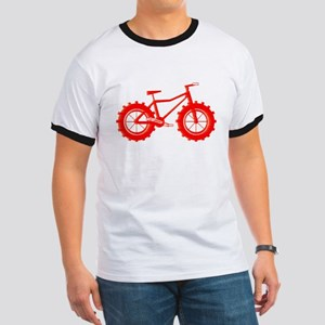 windblown red fat bike logo T-Shirt