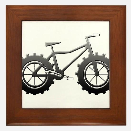 Chrome Fatbike logo Framed Tile