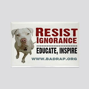 Resist Ignorance Rectangle Magnet