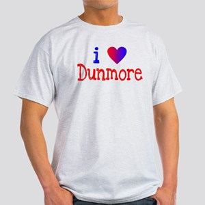 I LOVE DUNMORE Ash Grey T-Shirt