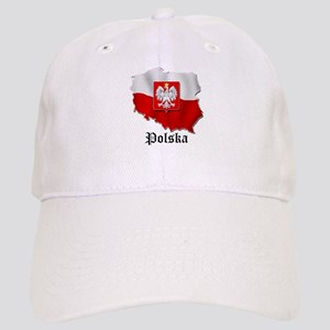 Poland flag map Cap