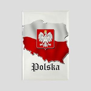 Poland flag map Rectangle Magnet