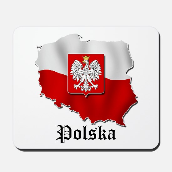 Poland flag map Mousepad