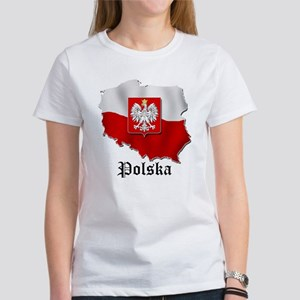 Poland flag map Women's T-Shirt