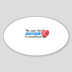 The Cure for Autism is Sticker (Oval)