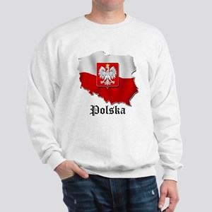 Poland flag map Sweatshirt