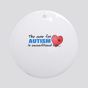The Cure for Autism is Ornament (Round)