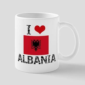 I HEART ALBANIA FLAG Mug