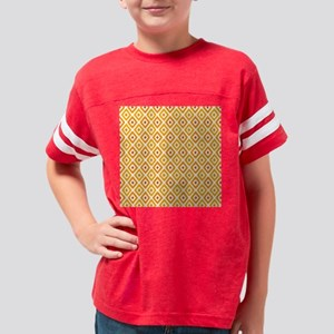 Ikat Patern Orange Sunset Dia Youth Football Shirt