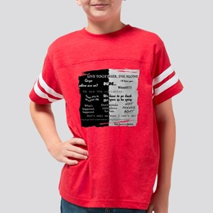 best lines lost text only Youth Football Shirt