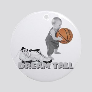Basketball Dream Tall Ornament (Round)