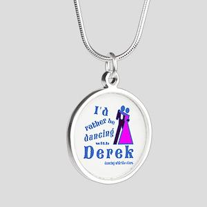Dancing With Derek Silver Round Necklace