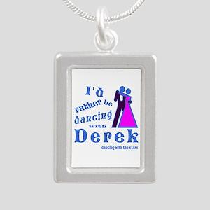 Dancing With Derek Silver Portrait Necklace