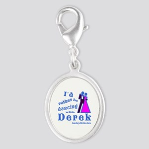 Dancing With Derek Silver Oval Charm