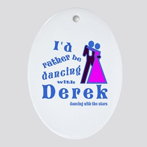 Dancing With Derek Ornament (Oval)