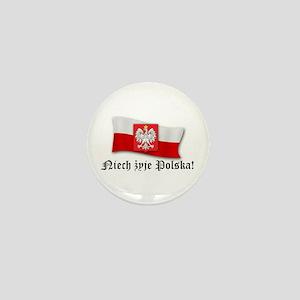 Poland flag and arms Mini Button