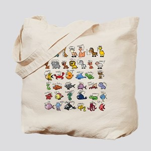 Silly Zoo Animals Tote Bag