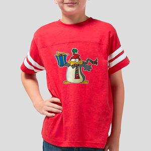 cute xmas penguin Youth Football Shirt