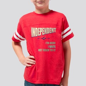 here_vote_INDEPENDENT_black_t Youth Football Shirt