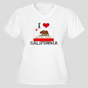 I HEART CALIFORNIA FLAG Plus Size T-Shirt