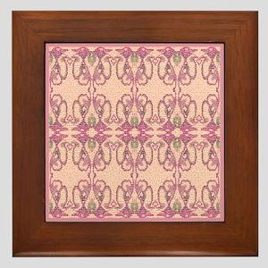 Pink 'Victorian Easter Illusion' Framed Tile