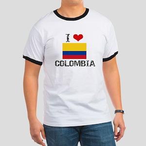 I HEART COLOMBIA FLAG T-Shirt