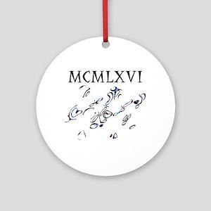 MCMLXVI, 1966, Roman Numerals Ornament (Round)