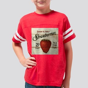 strawberries-posters Youth Football Shirt
