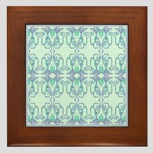 Blue 'Victorian Easter Illusion' Framed Tile