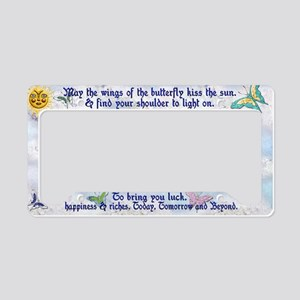Harvest Moons Butterfly Kiss License Plate holder