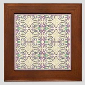 Lavender 'Victorian Easter Illusion' Framed Tile