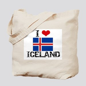 I HEART ICELAND FLAG Tote Bag