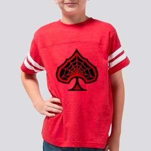 blk_Spiderweb_Ace_Of_Spades Youth Football Shirt