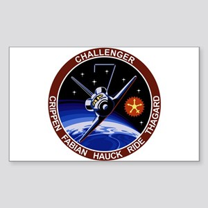 STS-8 Challenger Sticker (Rectangle)