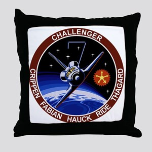 STS 7 Challenger Throw Pillow