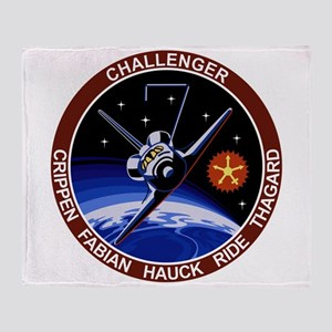 STS 7 Challenger Throw Blanket