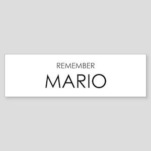 Remember Mario Bumper Sticker