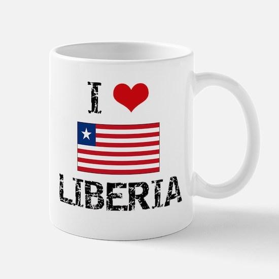 I HEART LIBERIA FLAG Mug