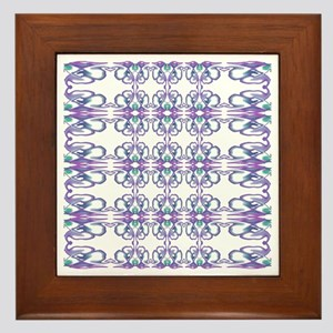 Purple 'Victorian Easter Illusion' Framed Tile