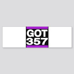 got 357 purple Bumper Sticker