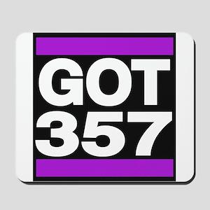 got 357 purple Mousepad