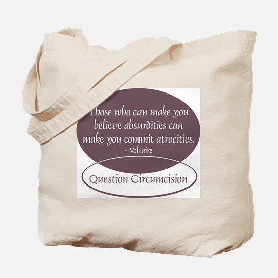 Voltaire Quote Tote Bag