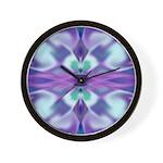 'Virtual Violets' Wall Clock