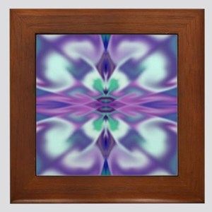 'Virtual Violets' Framed Tile