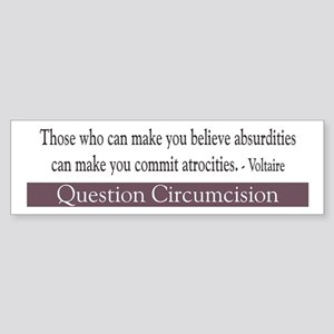 Voltaire Quote Bumper Sticker