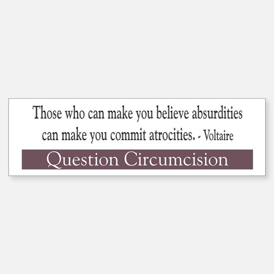 Voltaire Quote Bumper Bumper Bumper Sticker