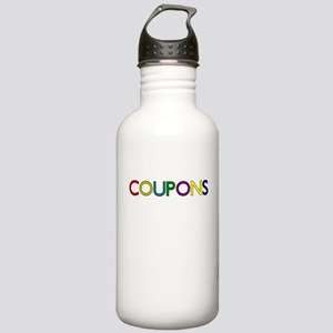 COUPONS COLORFUL Water Bottle